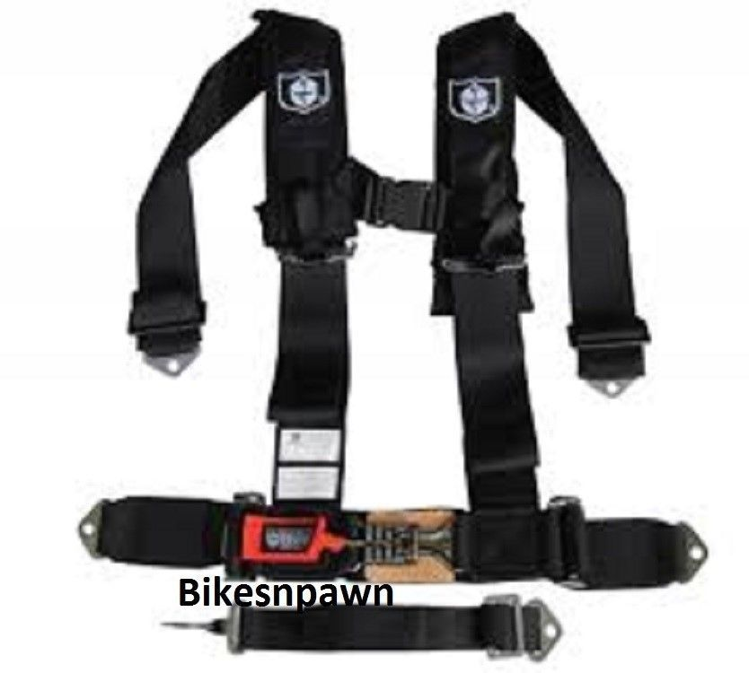 "New Pro Armor Black 5 Point Safety Harness Seat Belt RZR 3"" Pads (Sewn) A115230"