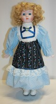 "1988-89 Heritage Mint 15"" Porcelain Doll Allison Blond Hair Blue Eyes - $19.79"