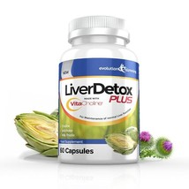 LiverDetox Plus with VitaCholine for Liver Health 1 Month Supply (60 Cap... - $38.99