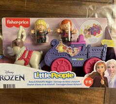 Fisher Price Little People Disney Princess Anna Kristoff Wagon Purple NEW Sven  - $40.58