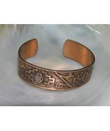 Vintage Genuine Copper Marked Tribal Stamped Southwest Cuff Bangle Brace... - $23.26