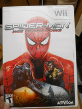 Spiderman Web of Shadows Nintendo Wii - $9.50
