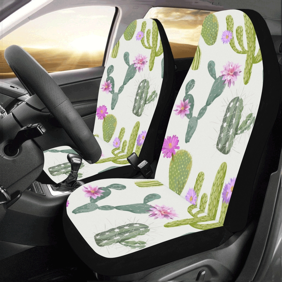 Cactus Flowers Green Plant Healthy Universal Fit Auto