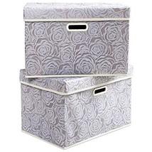 Prandom Large Stackable Storage Bins with Lids [2-Pack] Fabric Decorativ... - $32.30