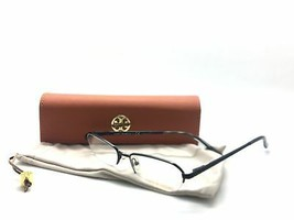 Tory Burch Ty 1003 Black 107 Semi Rimless Metal Eyeglasses Frame 50-17-135 - $58.17
