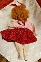 """1983 DYNASTY DOLL COLLECTION 10""""  PORCELAIN Girl In Burgundy & Pink Dress Vicky image 7"""