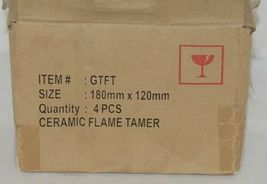 Ceramic Flame Tamer Quantity Four Pieces Item GTFT 180mm by 120mm image 3