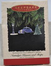 Hallmark - Nostalgic Houses and Shop Accessories - Set of 3 - Keepsake Ornament - $11.35