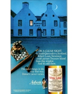 Hawes Inn South Queensferry Scotland Crescent Moon White Label Scotch 19... - $10.99