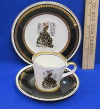 Vintage Stavangerflint Norway Cup Saucer & Plate Demitasse Victorian Wom... - $16.82