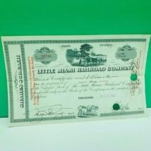 Railroad train company stock bond ephemera certificate little miami cinc... - $28.89