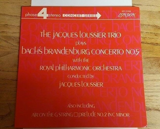 Jacques Loussier Trio BRANDENBURG CONCERTO 5 RECORD AlbumBach Jazz SPC 21044