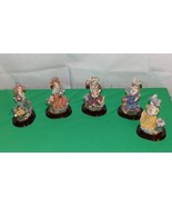 Victorian Figurine Collection Lot of 5 spectacular Super Detailed Little... - $24.70