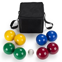 Deluxe 4-Player Resin Bocce Ball Set with Carrying Case, 90mm by Crown S... - $48.66