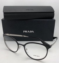 New PRADA Eyeglasses VPR 53T 1AB-1O1 52-19 135 Shiny Black & Gold Frame ... - $229.95