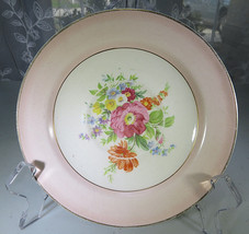 "Vintage Porcelain Knowles Semi Vitreous China Floral saucer 6"" Plate Flo... - $15.00"