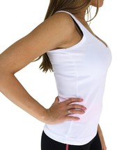 W SPORT WOMEN'S ATHLETIC WORK OUT GYM SPORT SHIRT TANK TOP WHITE AP-4809 size L image 2