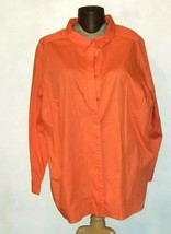 Roaman's Women's Long Sleeve Button Down Shirt Plus Size 32 Roamans 32 Top - $14.99