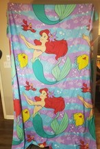 Vintage Disney THE LITTLE MERMAID Twin Flat & Fitted Sheet Set {Fabric} ... - $46.74