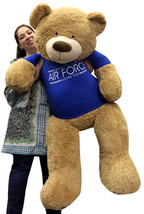 Giant Air Force Military Teddy Bear 5 Feet Tall Soft Wears Tshirt Someon... - $127.11