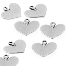 Charms Heart Antique Silver Pewter Pendant DIY Jewelry Craft Accessory 1... - $15.83