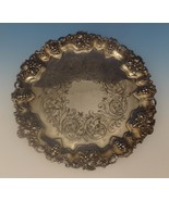Hw & Co. English Sterling Silver Salver Tray w/Grapes Footed Circa 1849 ... - $2,180.25