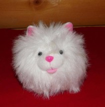 "Egg Babies ""Fur""Endly Plush 4"" Pink Accented White Kitty Cat Sweet SNOWF... - $4.59"
