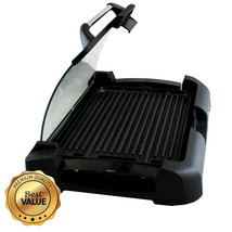 Megachef Reversible Indoor Grill and Griddle with Removable Glass Lid - $72.48