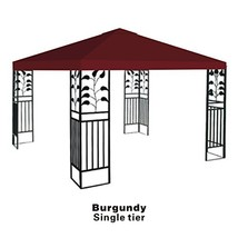 STRONG CAMEL Replacement 10'X10'gazebo canopy top patio pavilion cover s... - $41.56