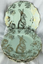 222 Fifth Bunny Hill Set of 4 Salad Plates Gree... - $47.22