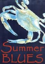 Summer Blues Blue Crab Garden Flag Banner GF 18 Inches - $29.78