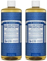 Dr. Bronner's Pure-Castile Soap - Peppermint, 32 oz Pack of 2 - $29.40