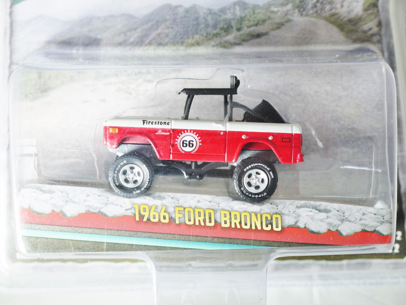 GREENLIGHT 1/64 ALL-TERRAIN Series 2 1966 FORD BRONCO Die-cast Figure Red