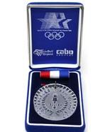 1984 LA Olympics XXIII Waterford Los Angeles Olympiad crystal medal Maed... - $16.97