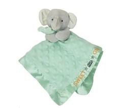 Carter's Bébé Éléphant Mint Vert Sécurité Couverture Hochet Animal en Peluche - $45.58
