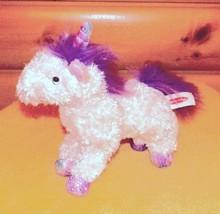 """Melissa & Doug Plush 11"""" White Unicorn MISTY -Lavender Mane & Iridescent Accents - $7.89"""