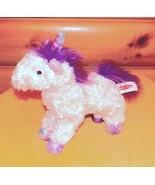 """Melissa & Doug Plush 11"""" White Unicorn MISTY -Lavender Mane & Iridescent... - $7.89"""