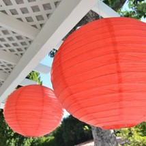 """Package of 2 Round Asian Style Chinese Round Lanterns 16"""" Hanging Multi ... - $5.99"""