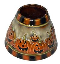 Yankee Candle Pumpkin Patch Ceramic Lamp Shade Halloween Jack O'Lantern ... - $29.65