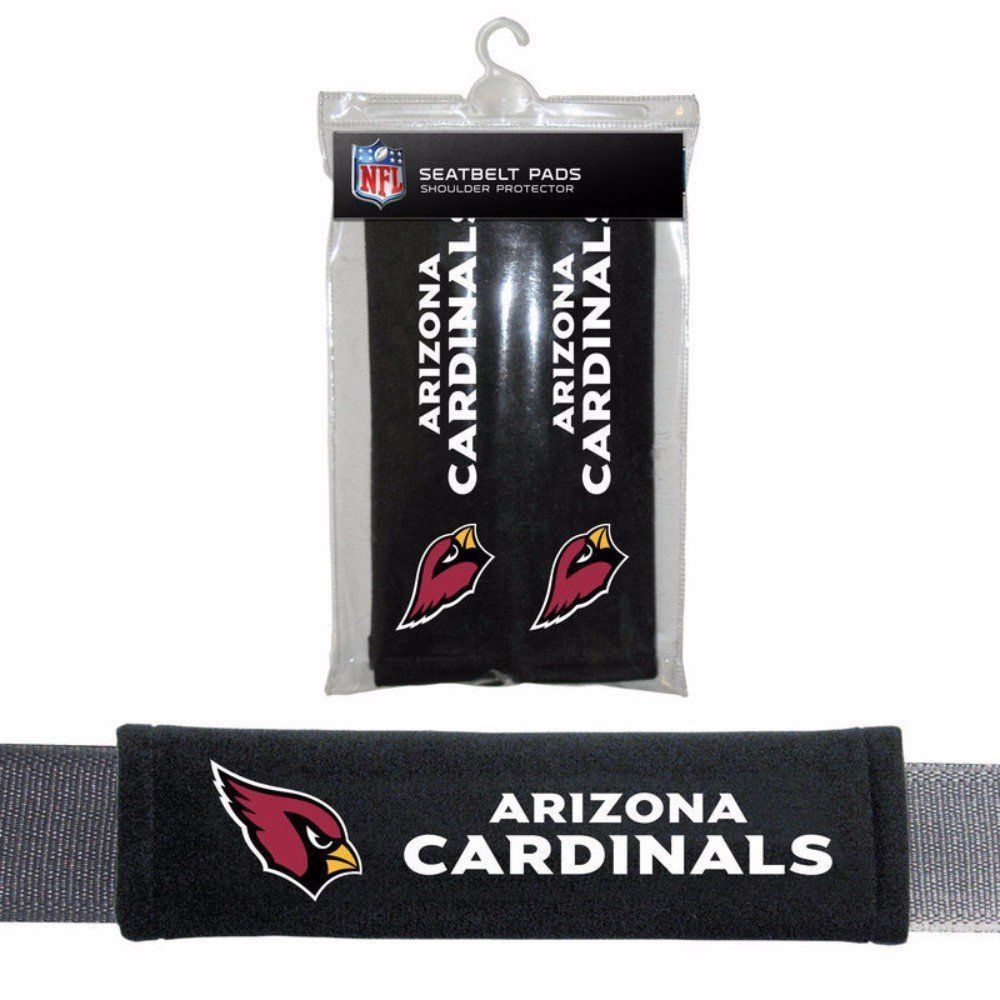 ARIZONA CARDINALS 2 VELOUR SEAT BELT LAPTOP BAG SHOULDER PADS NFL FOOTBALL