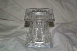 PartyLite Small Quad Prism Pedestal Holder 24% Lead Crystal Party Lite - $24.99