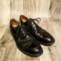Clarks Mens Bilton Walk 26068137 Sz 10.5 Black Leather Dress Oxford Shoes - $34.99