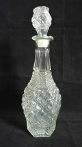 Vintage Anchor Hocking Wexford 32oz Glass Decanter with Stopper 14 3/8 i... - $15.43
