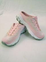 Skechers D'lites Pink Bling Air-Cooled Memory Foam Slip On Womens Shoes ... - $24.74