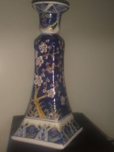 Decorative Lamp Base Ceramic Porcelain Blue Floral - $4.95