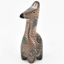 Crafts Caravan Hand Carved Soapstone Brown Giraffe Figurine Made in Kenya image 2