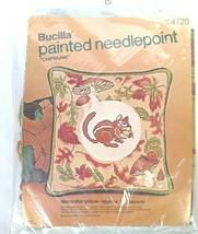Bucilla Painted Needlepoint Kit Chipmunk Pillow 4720 Fall Decor - $45.53
