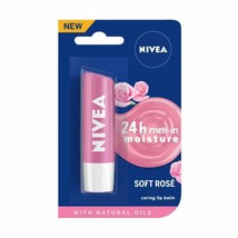 NIVEA Lip Balm, Soft Rose, 4.8 Gram -Protects and cares for your lips  -AU - $13.13