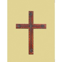 WOOD AND IRON WALL CROSS - $30.00