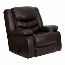 Plush Brown Leather Rocker Recliner [MEN-DSC01078-BRN-GG] - $497.71